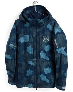 [ak] GORE‑TEX Swash Jacket Dress Blue Telo Camo