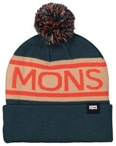 Pom-Pom Beanie Atlantic / Orange Smash