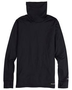 Midweight Base Layer Long Neck Shirt True Black