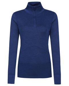 Trysil woman top, blue melange