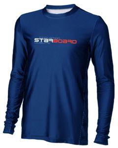 Mens Long Sleeve Lycra - Team Blue
