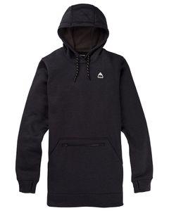 Wms Oak Long Pullover Hoodie True Black Heather