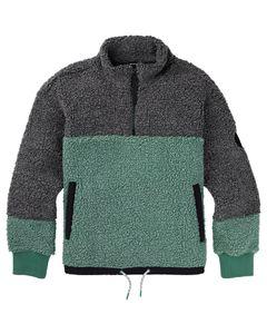 Wms Larosa Quarter-Zip Sherpa Fleece True Black/Fr