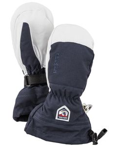 Army Leather Heli Ski Jr - Mitt Navy Luffe