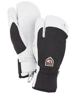 Army Leather Patrol - 3 Finger Handske Sort
