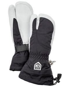 Heli Ski Dame - 3 Finger Handske Sort/Hvid