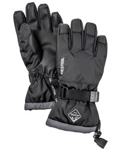 GUANTLET CZONE JR - 5 FINGER BLACK/GRAPHITE Handske
