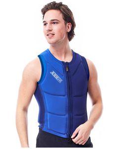 Reversible comp vest men zipper blue