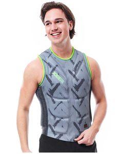 Reversible comp vest men olive