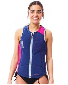 Reversible comp vest women zipper pink