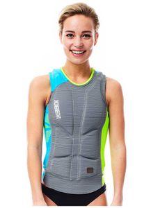 Comp Vest Woman Lime / Grey