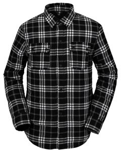 Sherpa Flannel Jacket Black