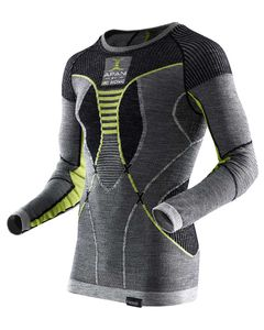 Apani Merino Fastflow Shirt Black/Grey/Yellow