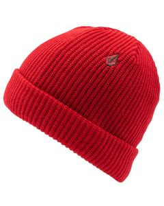 Sweep Lined Beanie Red