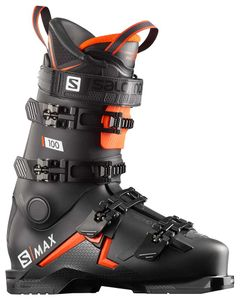 S/Max 100 - Black/Orange/White Skistøvler