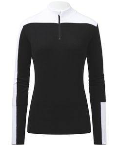 Women Montalina Half-Zip Black-White