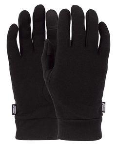 Merino Touchscreen Liner Black Handske