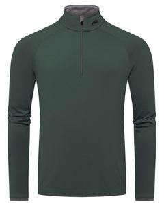 Men Feel Half-Zip dark jet green
