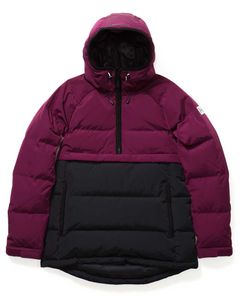 Side Zip Puffer Jacket Sangria / Black